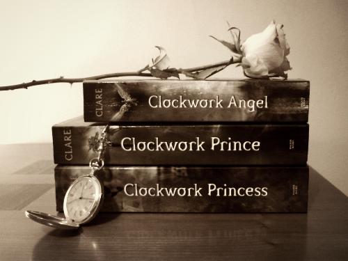 angel, books, and clockwork image