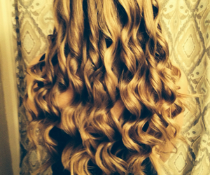 blonde, curl, and girl image