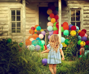 balloons, child, and photography image