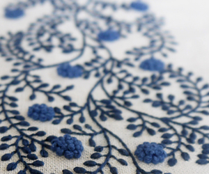 embroidery, art, and blue image