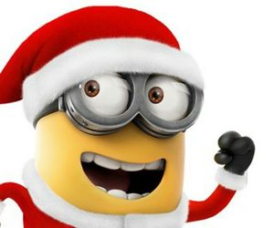 minions, christmas, and december image