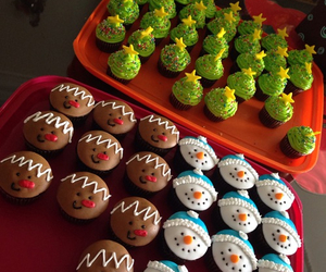 cupcakes, snowman, and tree image