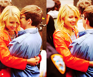 kevin mchale, dianna agron, and glee cast image
