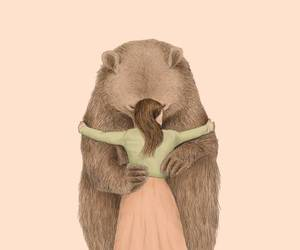 bear, hug, and art image