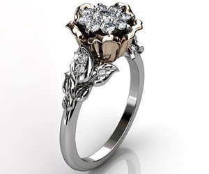 vintage jewelry, engagement ring, and wedding band image