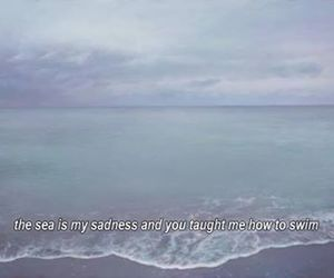quote, sea, and ocean image