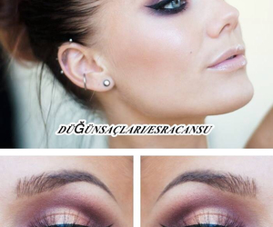 beauty, brown, and cat eyes image