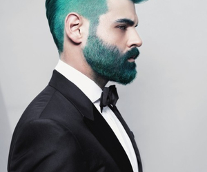 hair, boy, and green image