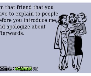 friends, funny, and ecards image