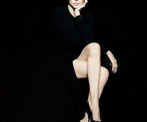 Angelina Jolie, black, and sexy image