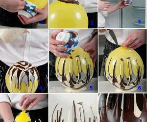 baloon, chocolate, and dessert image