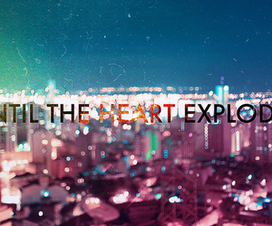 heart, city, and explode image