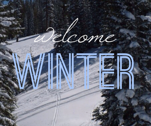 winter, snow, and welcome image