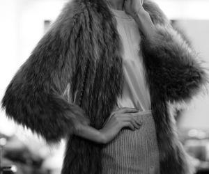 model, fashion, and fur image