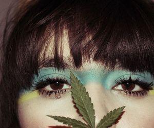 blue, girl, and make up image