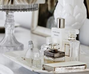 interior, white, and perfume image