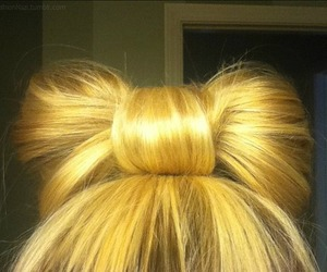 bow, blonde, and fashion image