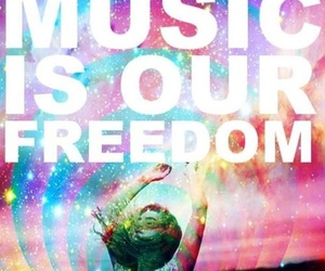 music, freedom, and colorful image