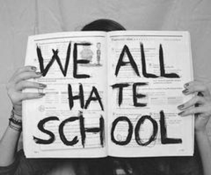 boring, hate, and school image