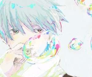 anime, boy, and bubbles image