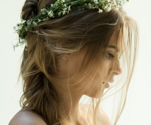 crown, hairstyle, and flower image