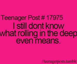 teenager post, Adele, and true image
