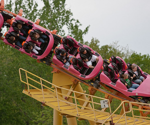 fun, photography, and rollercoaster image