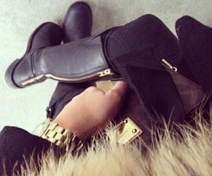boots, coat, and marc jacobs image