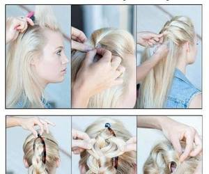 hair, tutorial, and simply image