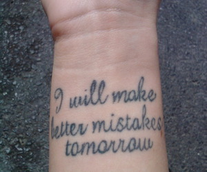 tattoo, mistakes, and quote image