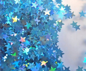 stars, blue, and glitter image
