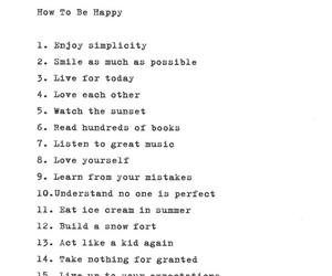 happiness, happy, and list image
