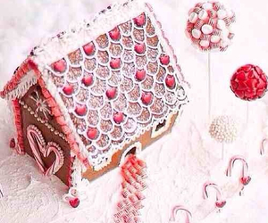 candy, christmas, and gingerbread house image