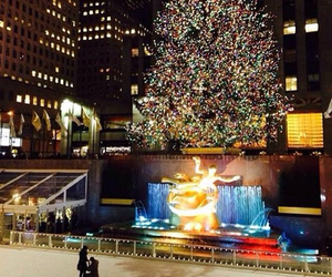 love, christmas tree, and couple image