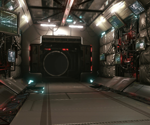 environment, hallway, and gameart image