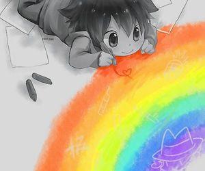 anime, rainbow, and kawaii image