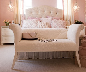 bedroom, girly, and white image