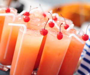 drink, cherry, and cocktail image