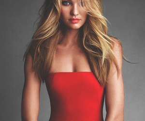 model, candice swanepoel, and red image