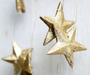 stars, gold, and decoration image