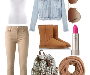 outfit, fashion, and uggs image