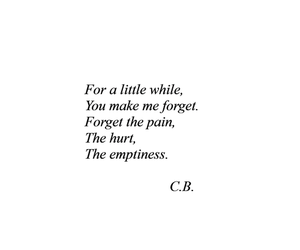 hurt, emptiness, and pain image