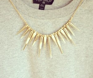 fashion, necklace, and topshop image