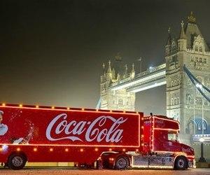 christmas, london, and coca cola image