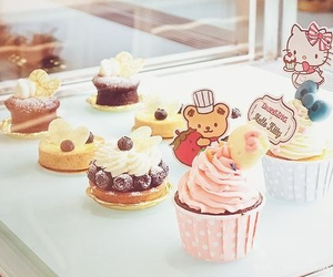 cupcakes, hello kitty, and sweet image