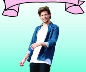 edit, louis tomlinson, and one direction image
