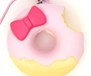 hello kitty, pink, and donut image