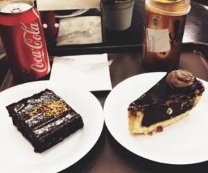 bolo, chocolate, and coca cola image