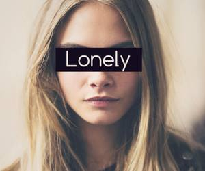 lonely and girl image