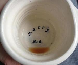 boy, coffe, and marry me image